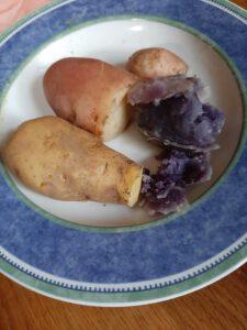 Kartoffeln auf dem Teller